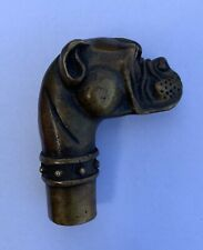 Antique Bulldog Cane Top