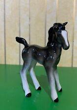 CHINA HORSE FOAL COMICAL TYPE MODEL DARK GREY GLOSS  BESWICK STICKER