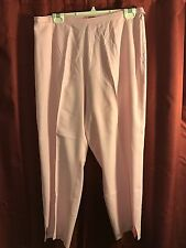 TOMMY BAHAMA WOMENS SILK CAPRIS PINK STRETCH LOUNGE CASUAL PANTS SIZE 12
