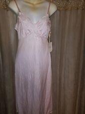 Women's Bust Size 34 Pale Pink Nylon Full Slip by Kickernick-Elegant Look!