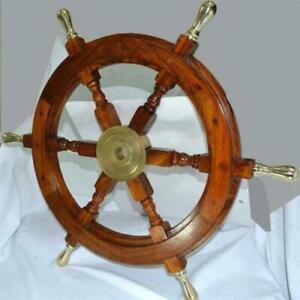 Antique Maritime Nautical Wheels Wooden Ship Wheel Vintage Unique Decorative