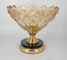 Gold & black pedestal crystal vase/Gift/Centerpiece/Fruit bowl/Home decorative