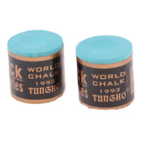 2pcs Pool Snooker Billiard Chalk Premium Cue Tip Chalks Table Club Supplies