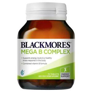 Blackmores Mega B Complex 75 Tablets