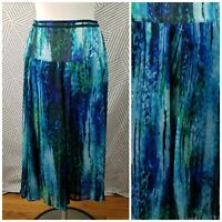 Jones NY Full Festival Skirt Floral Long Size 18 1X Hippie flowy watercolor midi