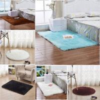 Pad Soft Carpet Hairy Plain Skin Fur Wool Plain Fluffy Rugs Bedroom Carpet Mats