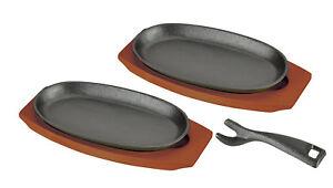 Japanese Pearl YAKINIKU Steak Grill pan cooking plate 9.4in 2pcs set HB-3026