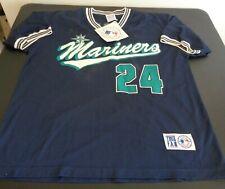 KEN GRIFFEY JR. Seattle MARINERS True Fan VINTAGE Jersey Style 1997 Shirt L NEW