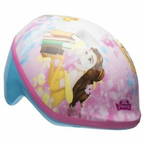 Disney Princesses Rule Glitter Bell Bike Helmet, Pink/Light Blue, Toddler 3+