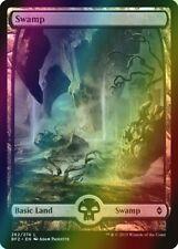 * Foil * MTG Full Art Swamp #262 NM - Battle for Zendikar