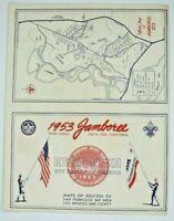 1953 National Jamboree Official Map Irvine Ranch Santa Ana, CA Boy Scouts BSA