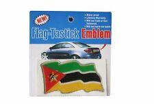 MOZAMBIQUE  FLAG BUMPER STICKER FLAG-TASTICK EMBLEM..SIZE: 3.5 X 2 INCH