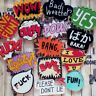 Inscription Wow Bang Crazy Fun Ouch Yes  Cartoon Badges Acrylic Pins Brooch