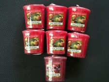 Yankee Candle Votive Candles: MACINTOSH APPLE/LUSCIOUS PLUM  New Lot of 7