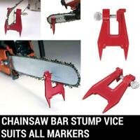 Stump Vise Professional Chainsaw Saw  Chain Sharpening Filing Tool Bar Clamp