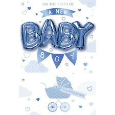 On the birth of a new Baby Boy Balloon Boutique Greeting Card