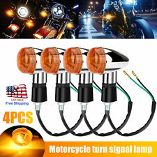 2 Pairs Motorcycle Led Turn Signal Lamp Indicator Light Amber Signals For Harley