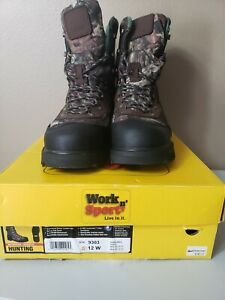Work n' Sport 800g Insulated Waterproof Camo Hunting Boots-Size 12W(NEW)