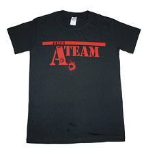The A TEAM bullet hole logo. Men's size small t shirts