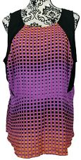 Lane Bryant Women's Blouse Tank Top Black Purple Orange Sleeveless Plus Size 20