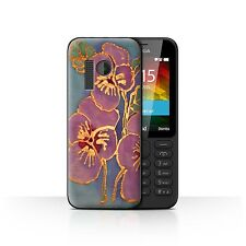 STUFF4 Phone Case for Nokia Smartphone/Floral Silk Effect/Protective Cover