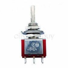 1x 6 Pin DPDT ON-OFF-ON High Quality 3 Position Mini Toggle Switches MTS-203 Red