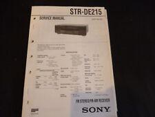 Original Service Manual Sony STR-DE215