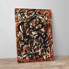 Jackson Pollock, Free Form - Stampa Giclee Fine Art su tela Canvas Quadro HR