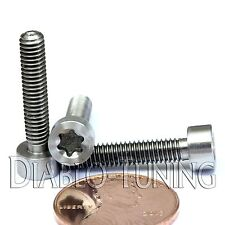 TITANIUM M4 x 20mm - SOCKET Cap Screw SHCS - T25 TORX drive / Star / 6lobe / TX
