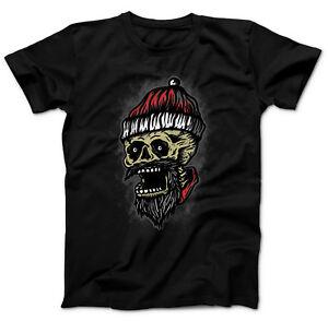 X-MAS Weihnachtsshirt Skull Santa Weihnachtsmotiv T-Shirt Weihnachten Heavy Evil
