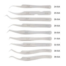 Stainless Steel Eyelashes Tweezers For Lashes Extension Anti-static Makeup Tools