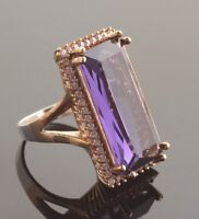 TURKISH HANDMADE AMETHYST STERLING SILVER 925K RING SIZE 6,7,8,9