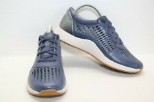 DANSKO CHARLIE BLUE PERFORATED LEATHER FASHION SNEAKERS WOMEN'S SIZE 38 US 8