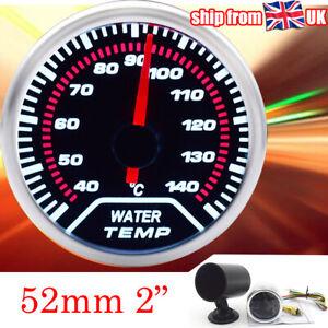"2"" 52mm Water Temp Gauge Digital Display 40~140℃ Dashboard W/ Gauge Pod Holder"
