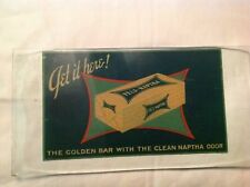 Fels Naptha Vintage Decal On Glass 1920's
