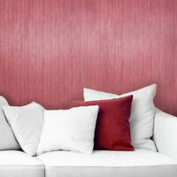 Plain Wallpaper textured Burgundy modern stria lines texture wall coverings roll