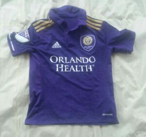 ADIDAS MLS Orlando City SC Replica Home Purple S/S Soccer Jersey  Youth S