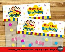 THE WIGGLES LOLLY BAG TAG PERSONALISED BIRTHDAY PARTY FAVOUR LOOT TOPPER