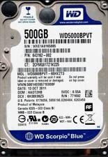 Western Digital WD5000BPVT-60HXZT3 500GB DCM: HAOT2HB