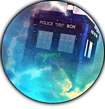 Doctor who Round Edible Birthday Cake Topper Frosting Sheet Decoration