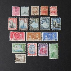 Vintage 1910s BERMUDA Postage Stamps Queen Victoria Caravel Sail Ship 707