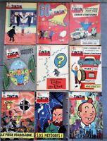 9 fascicules complet du journal de TINTIN couvertures de Hergé et E.P.Jacobs