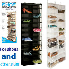 Over the Door Shoe Organizer Rack 26 Pocket Hanging Storage Space Saver Hanger