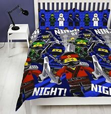 Lego Ninjago Movie Ninja Double Duvet Quilt Cover Kids Boys Bedroom Bedding New