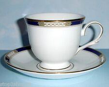 Lenox ROYAL TREASURE Tea Cup & Saucer Cobalt & Gold & Enameled Dots New