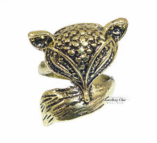 Bronze Fox Costume Jewellery Ring