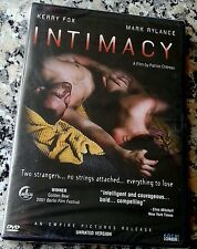 INTIMACY 2004 NEW RARE UNRATED DVD Kerry Fox Mark Rylance Patrice Chereau