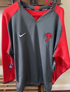 Philadelphia Phillies sweatshirt Nike Dry-Fit New w/tags Mens 2XL XXL $90!