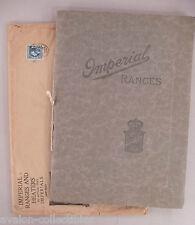 Imperial Stoves & Ranges CATALOG - 1913 ~~ stove, range ~~ with orig. envelope