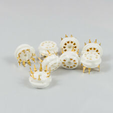1 X Zócalo noval PCB B9A 9 Pins dorados gold ceramic socket
